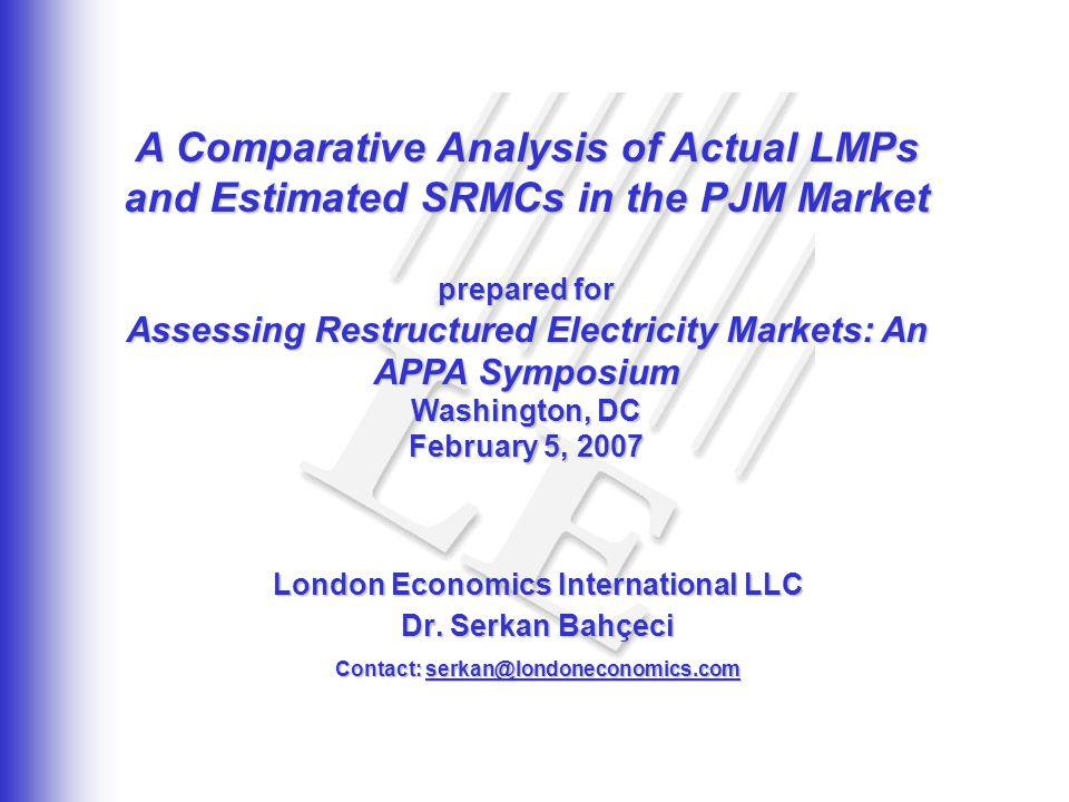 2 Plan of presentation Introduction Basics – prices, timeframe, market Results of the Study SRMC Modeling Methodology
