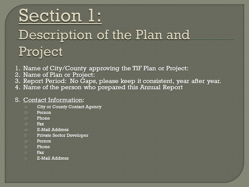 6.Original Date Plan/Project Approved: 7. Ordinance Number: 8.