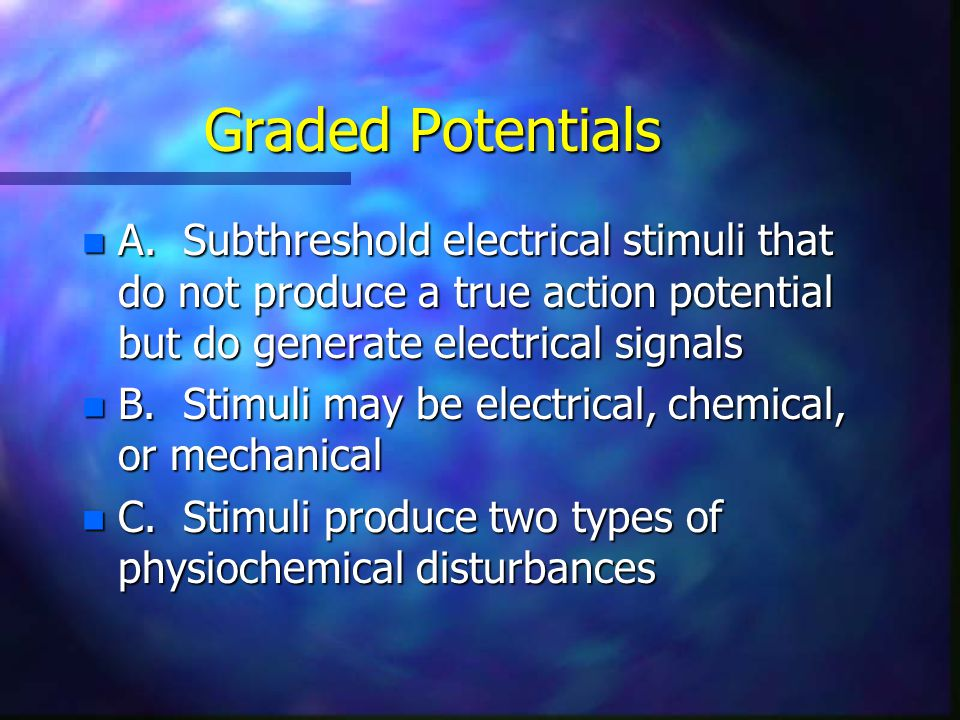 Types of Graded Potentials –b.