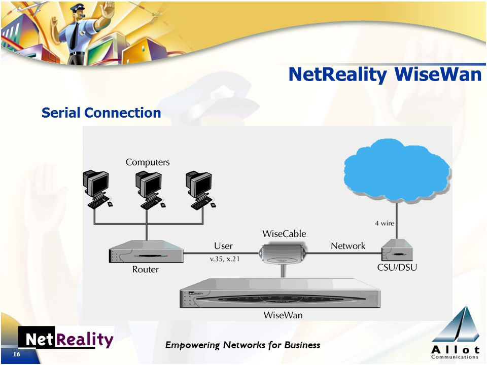 16 NetReality WiseWan Serial Connection
