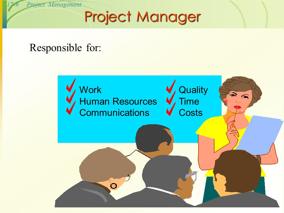 17-10Project Management  Temptation to understate costs  Withhold information  Misleading status reports  Falsifying records  Comprising workers' safety  Approving substandard work Ethical Issues