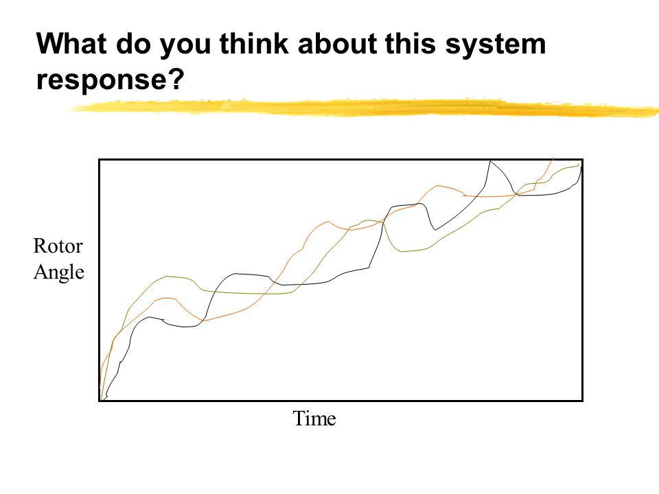 What do you think about this system response? Time Rotor Angle