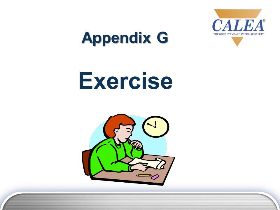 Appendix G Exercise
