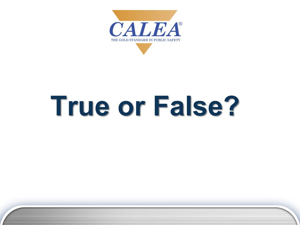 An agency just signed a CALEA contact.