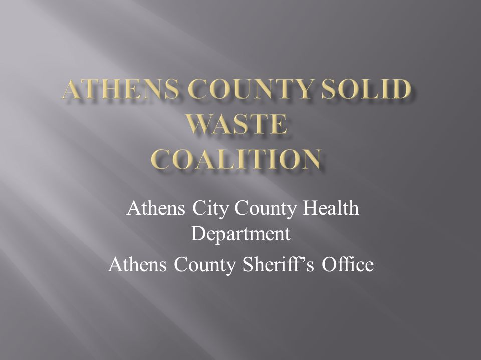 Athens City County Health Department Athens County Sheriff's Office