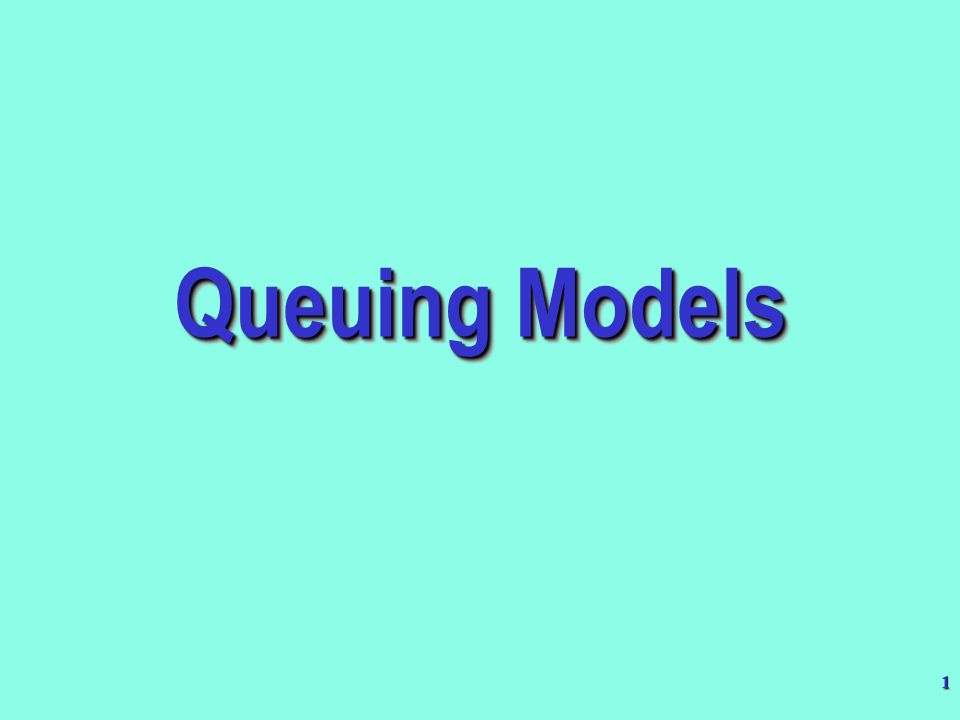 2 Introduction (1/2) Queuing is the study of waiting lines, or queues.