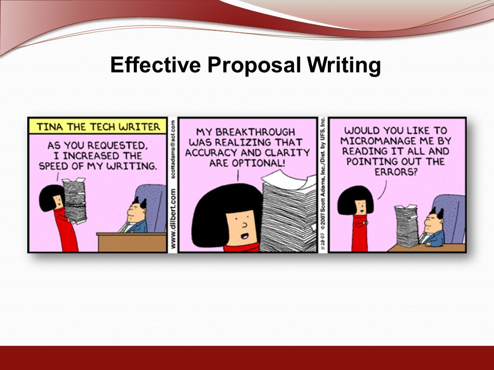 Effective Proposal Writing