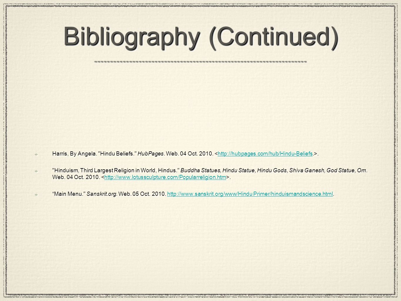 Bibliography (Continued) Harris, By Angela.