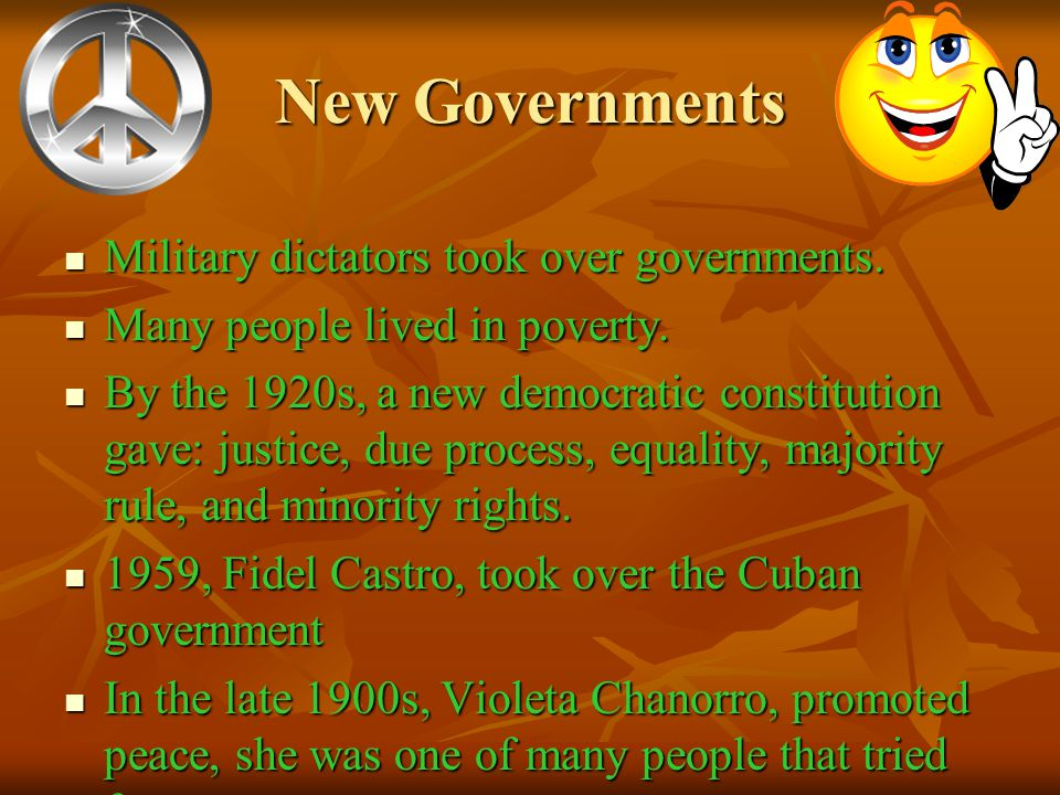 Unit 9 Latin America and the World 1910-2000 Main Idea: Most Latin American countries gained democratic governments in the 1900's but they continued t