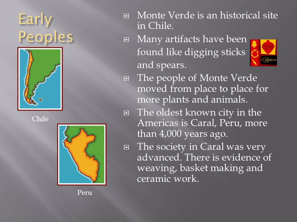  Central America has the most active volcanoes in all of the Americas.  Andes Mountains: western coast of South America formed when two plates colli