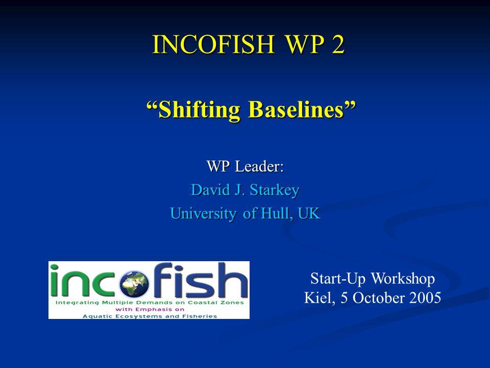 INCOFISH WP 2 WP Leader: David J.
