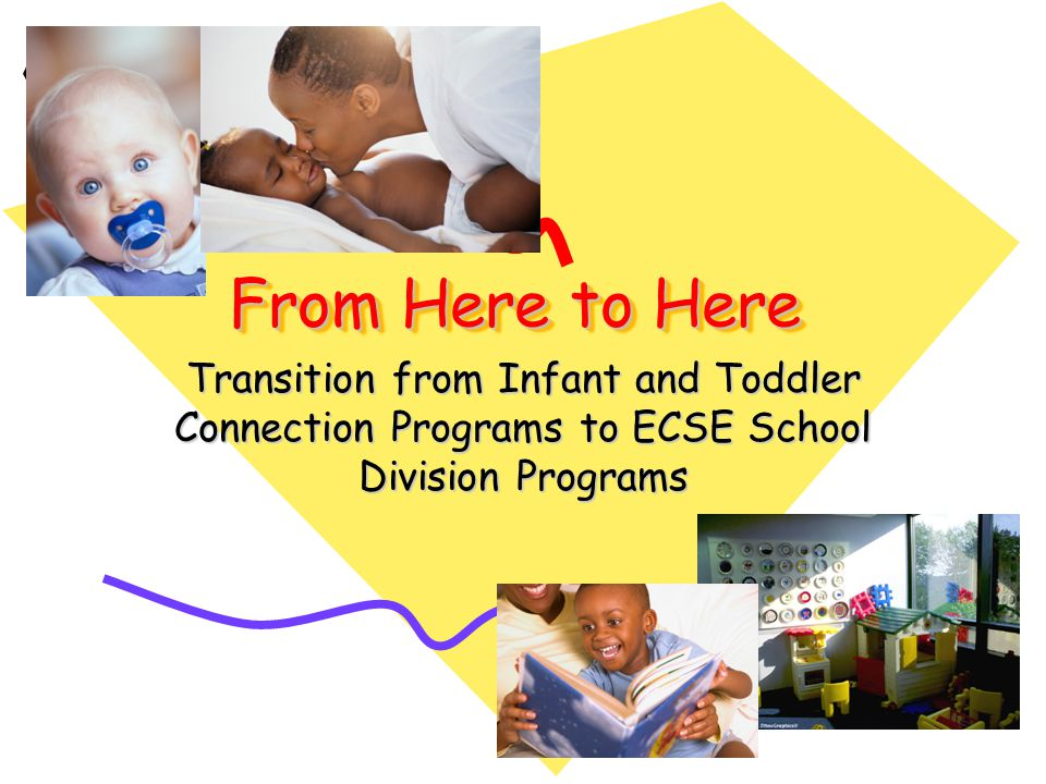 From Here to Here Transition from Infant and Toddler Connection Programs to ECSE School Division Programs