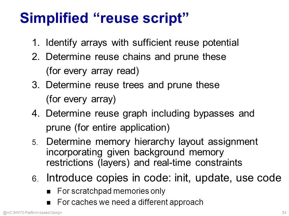 @HC 5KK70 Platform-based Design54 Simplified reuse script 1.