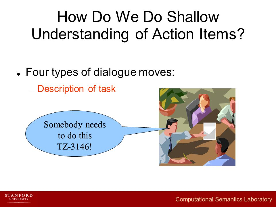 How Do We Do Shallow Understanding of Action Items.