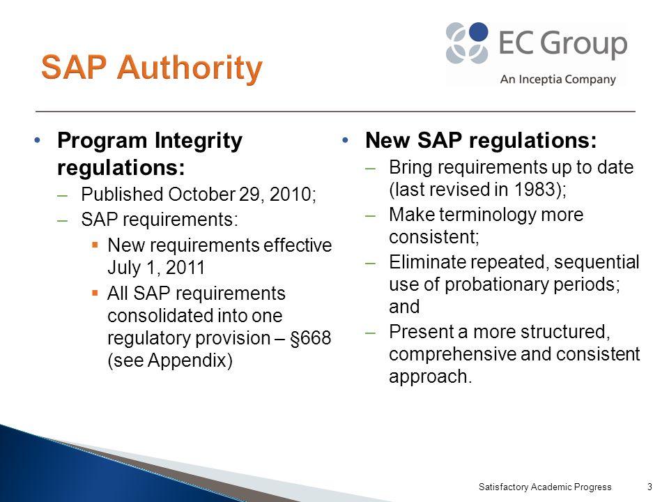 Satisfactory Academic Progress24 Reiterates SAP policy.