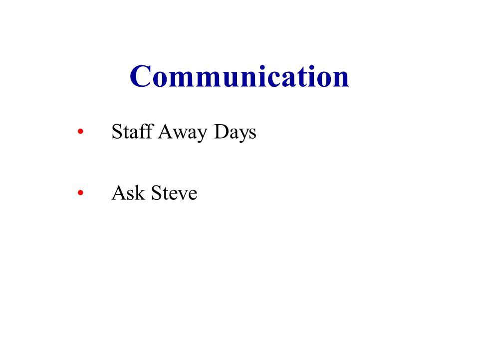 Communication Staff Away Days Ask Steve