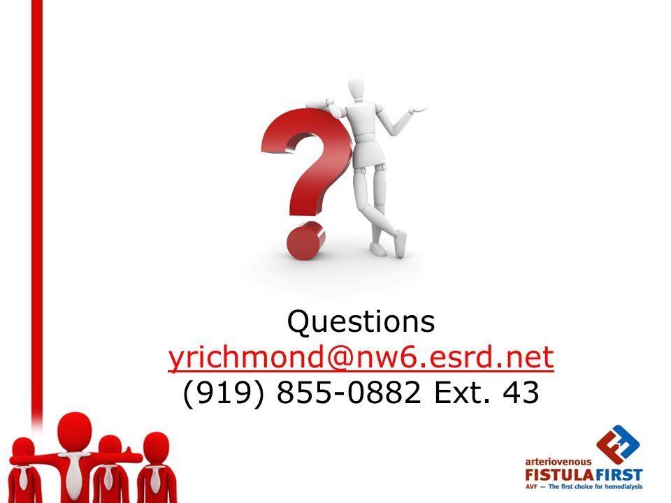Questions yrichmond@nw6.esrd.net (919) 855-0882 Ext. 43