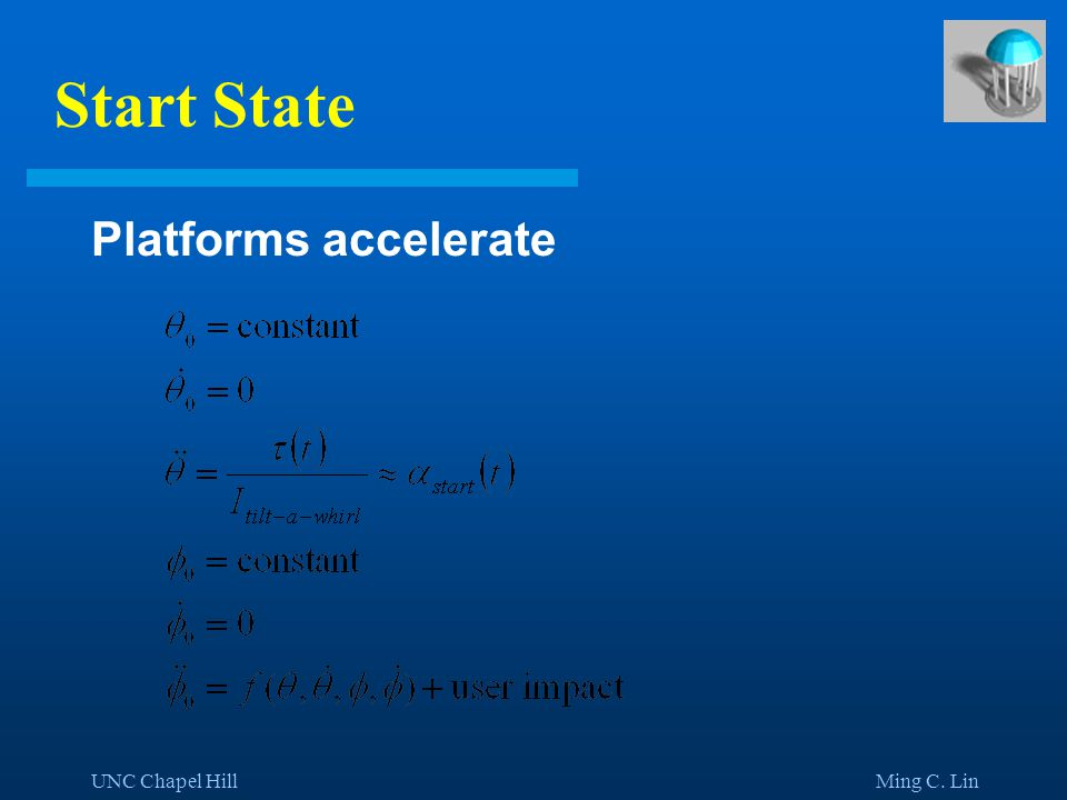 UNC Chapel Hill Ming C. Lin Start State Platforms accelerate