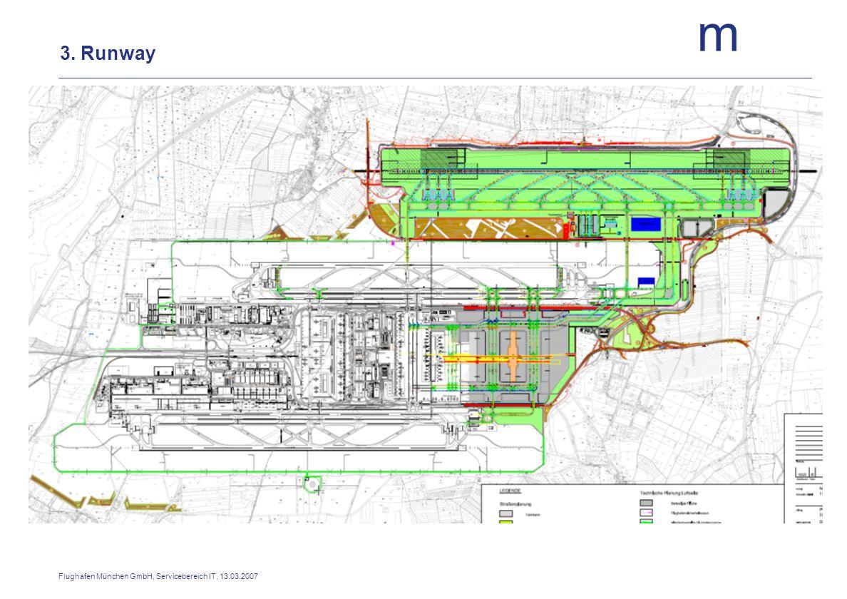 m Flughafen München GmbH, Servicebereich IT, 13.03.2007 3. Runway