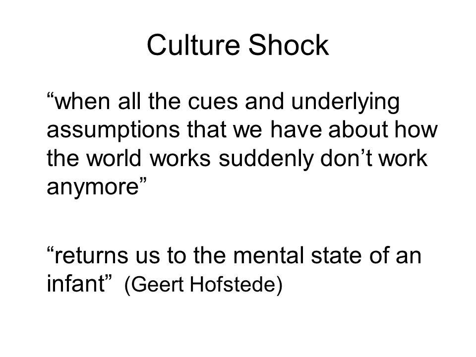 I.Honeymoon II. Initial Culture Shock III. Initial Adjustment IV.