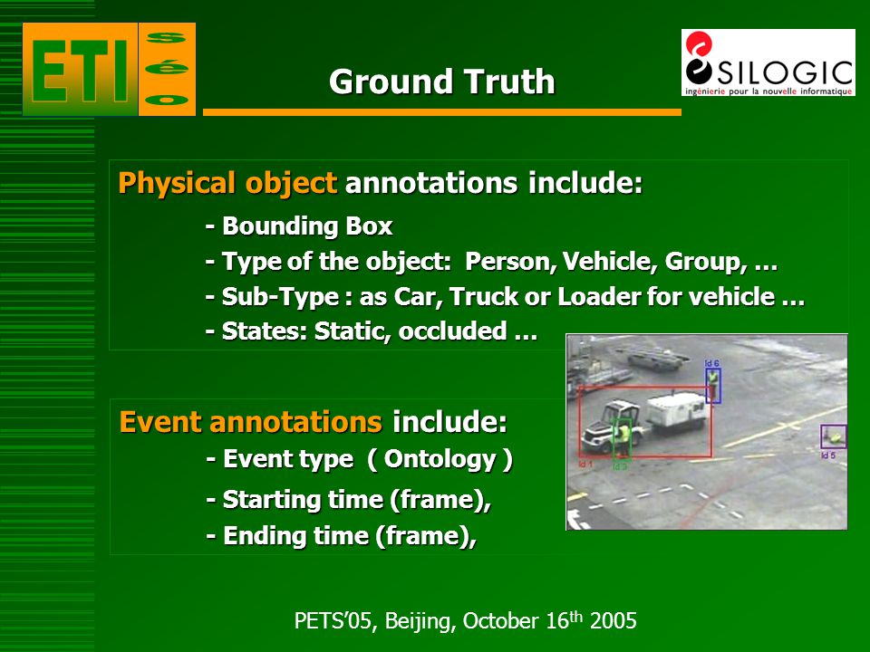 PETS'05, Beijing, October 16 th 2005 ETISEO – 2006 steps 2 Evaluation Cycles 2 Seminaries