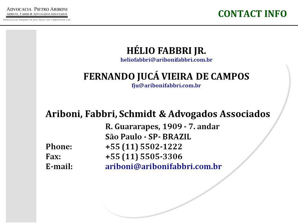 CONTACT INFO HÉLIO FABBRI JR.