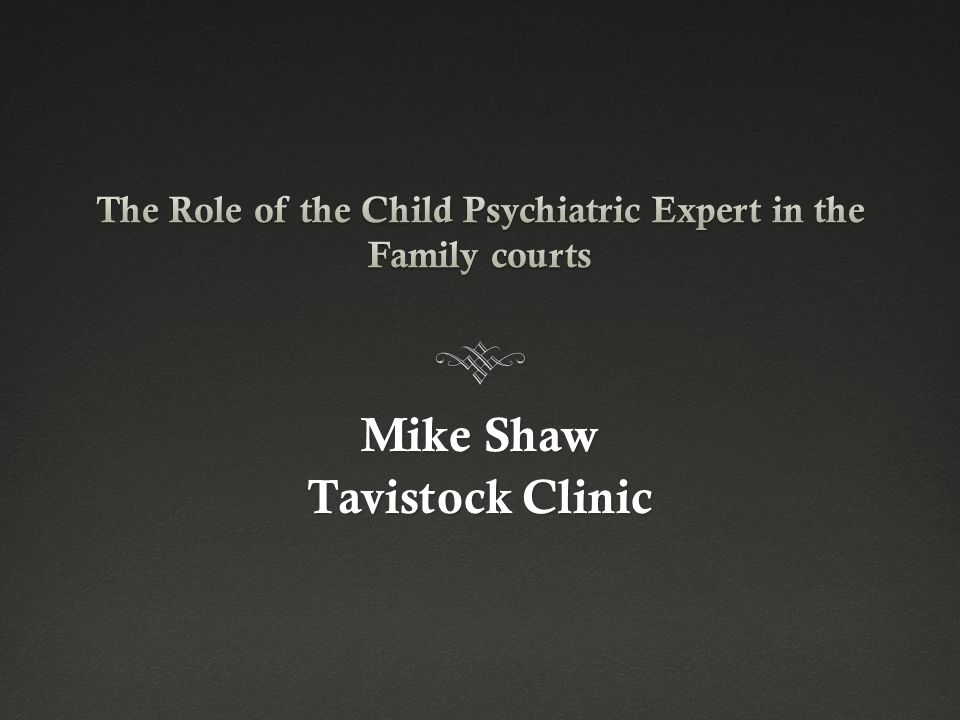Mike Shaw Tavistock Clinic