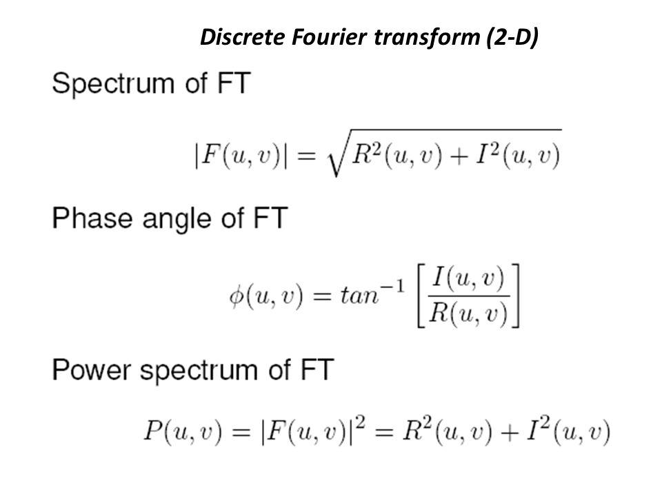 Discrete Fourier transform (2-D)