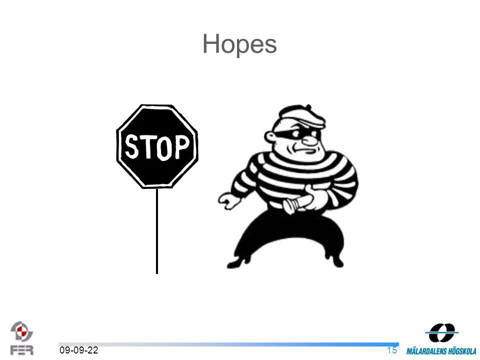 1509-09-22 Hopes
