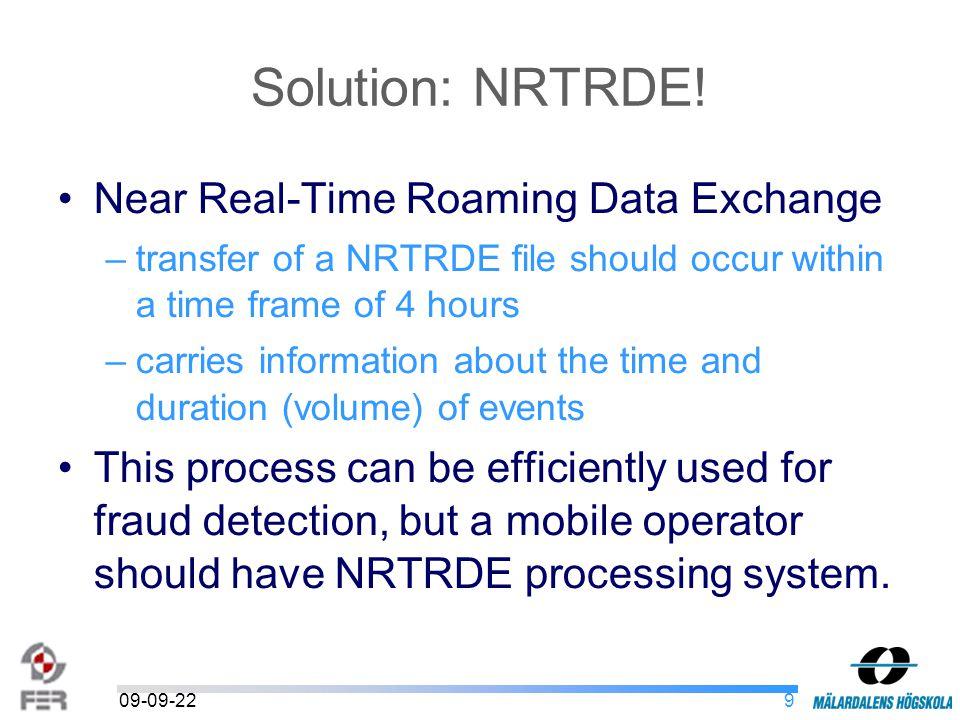 909-09-22 Solution: NRTRDE.
