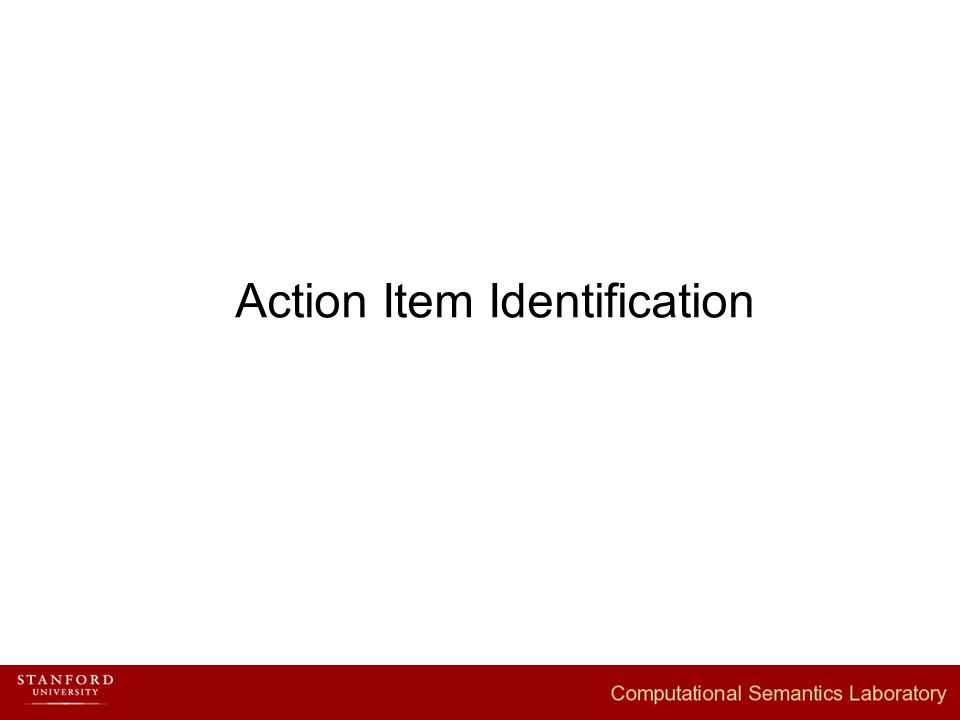Action Item Identification