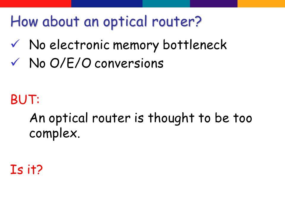 Optimal router emulation
