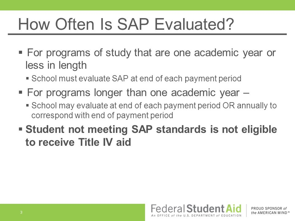 Qualitative Component School's policy must specify grade point average, or comparable assessment, required at each evaluation May be graduated or fixed For program of study more than two academic years, at end of second academic year Must require at least C , its equivalent, or academic standing consistent with graduation requirements 4