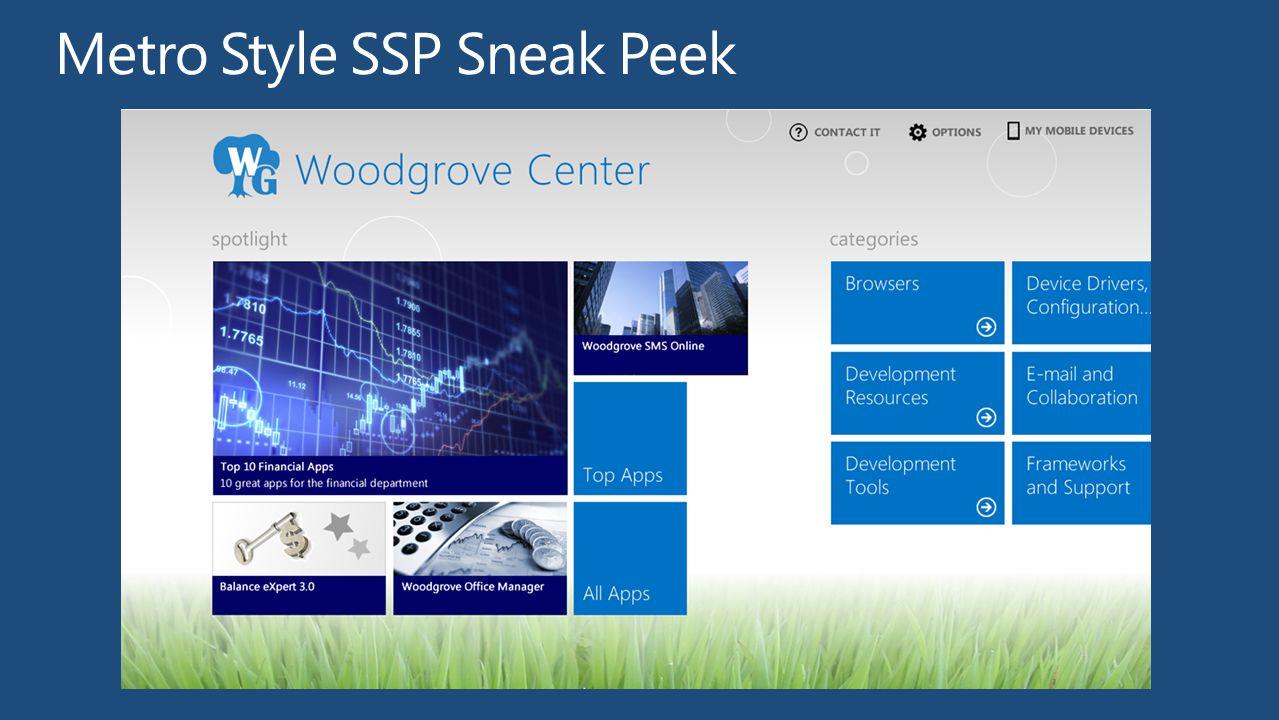 Metro Style SSP Sneak Peek