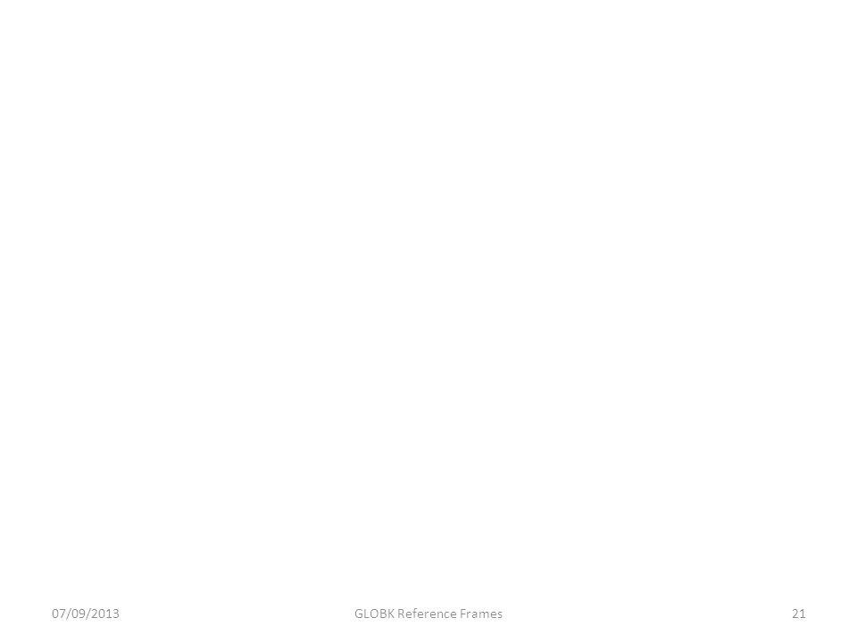 07/09/2013GLOBK Reference Frames21