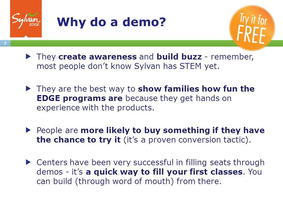 2 Why do a demo.