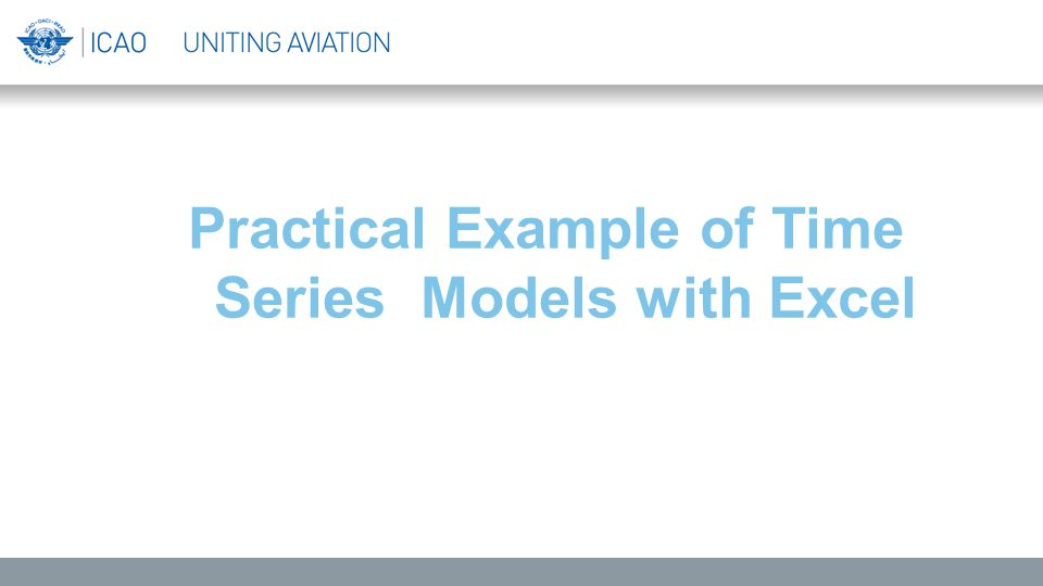 Practical Example of Time Series Models with Excel