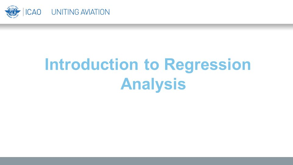 Introduction to Regression Analysis