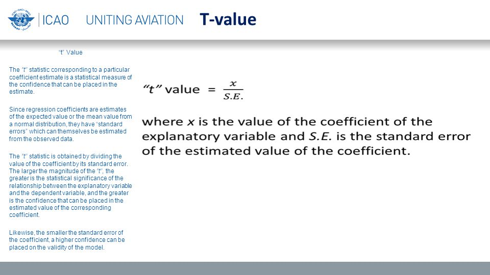 t Value The t statistic corresponding to a particular coefficient estimate is a statistical measure of the confidence that can be placed in the estimate.