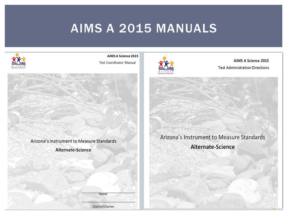 AIMS A 2015 MANUALS