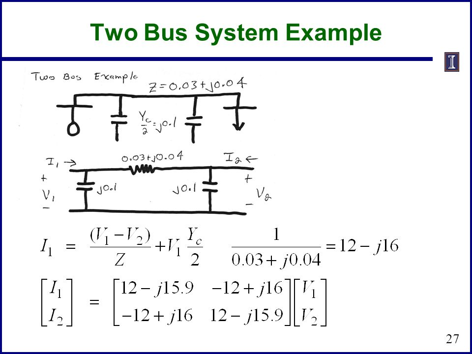 Two Bus System Example 27
