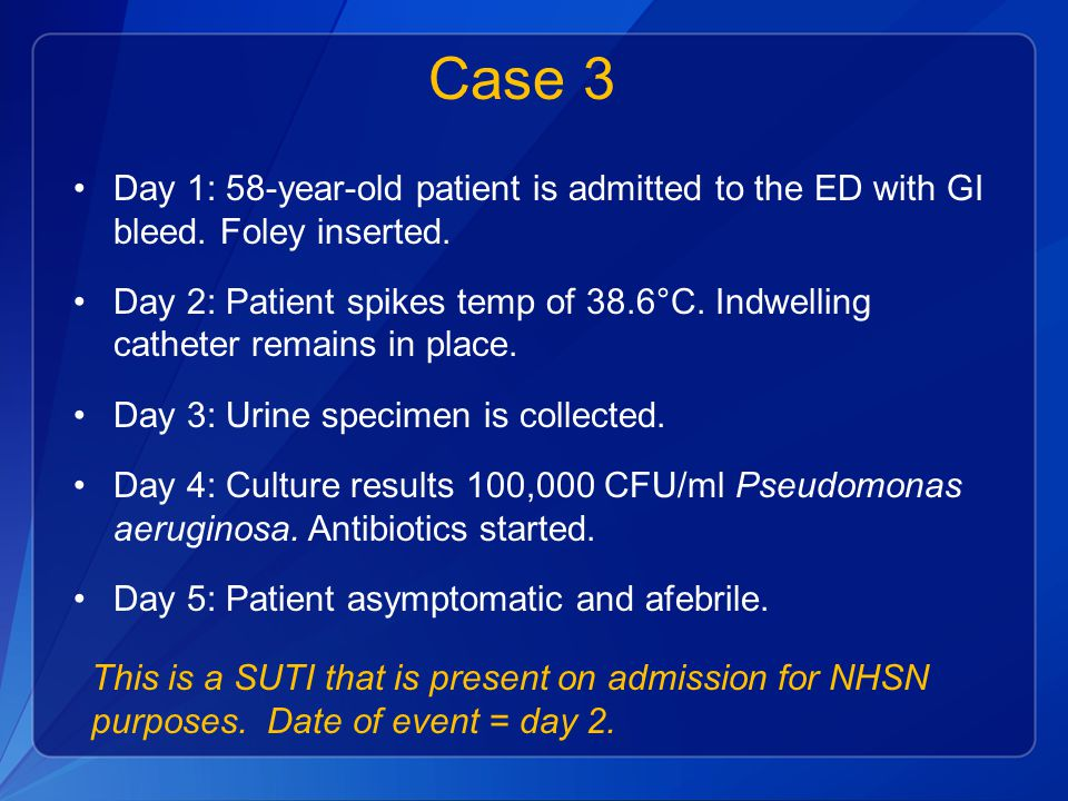 Case 3 Day 1: 58-year-old patient is admitted to the ED with GI bleed.