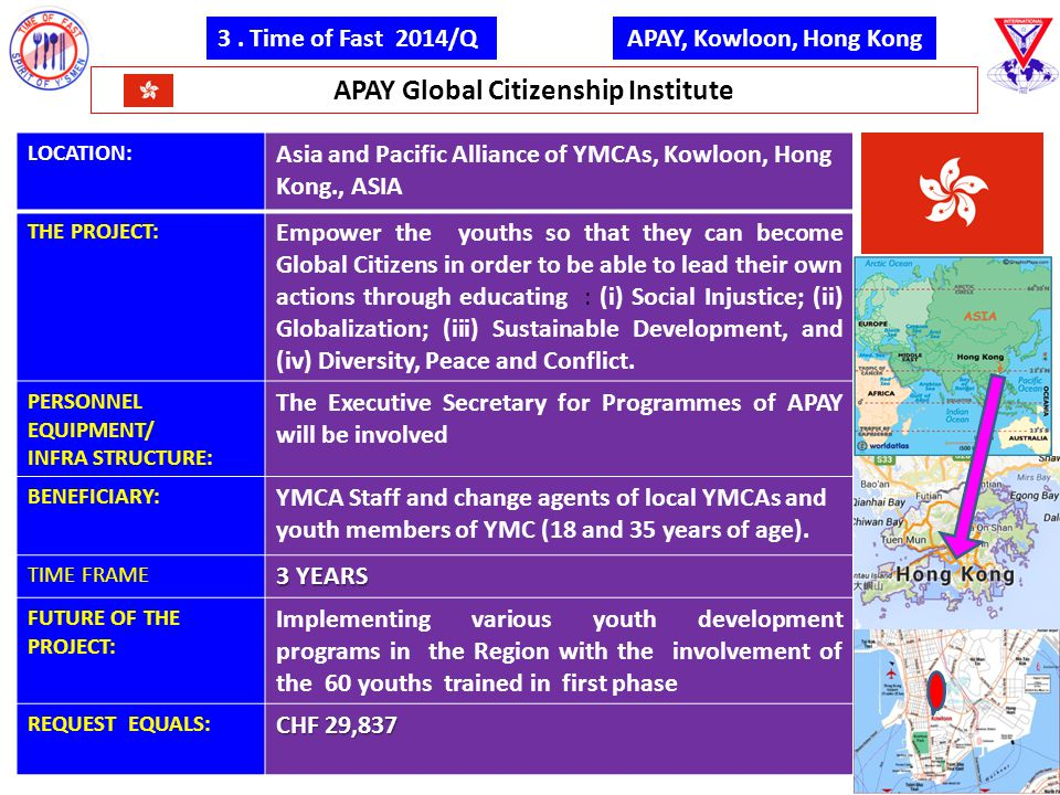 3. Time of Fast 2014/Q APAY Global Citizenship Institute APAY, Kowloon, Hong Kong