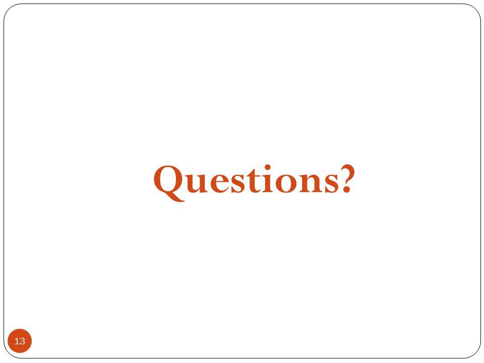 13 Questions