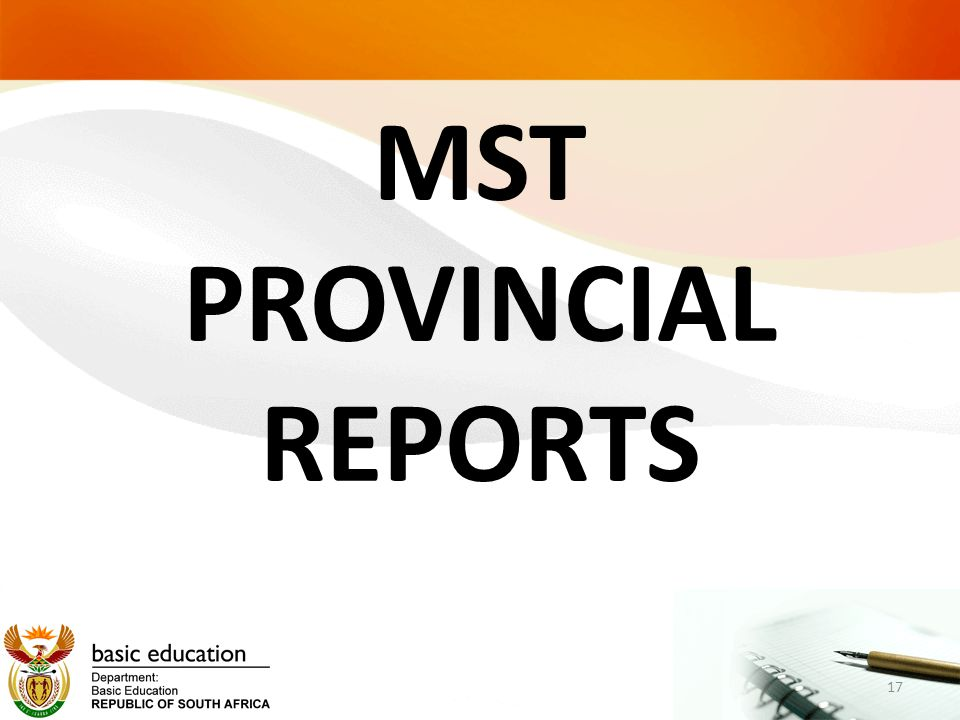 MST PROVINCIAL REPORTS 17