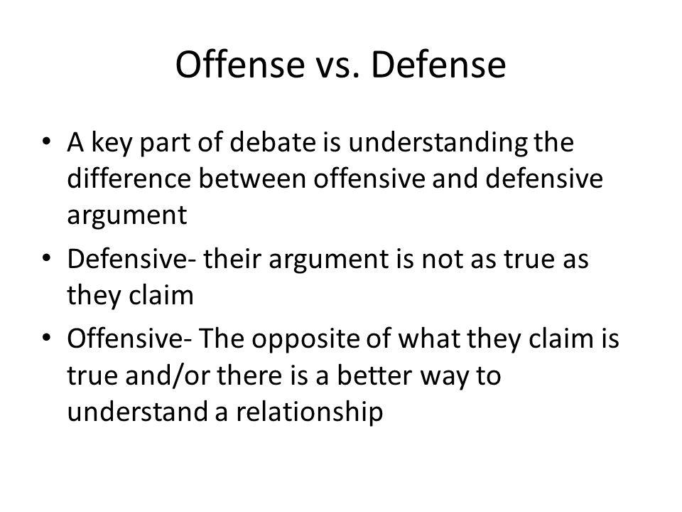 Offense vs.
