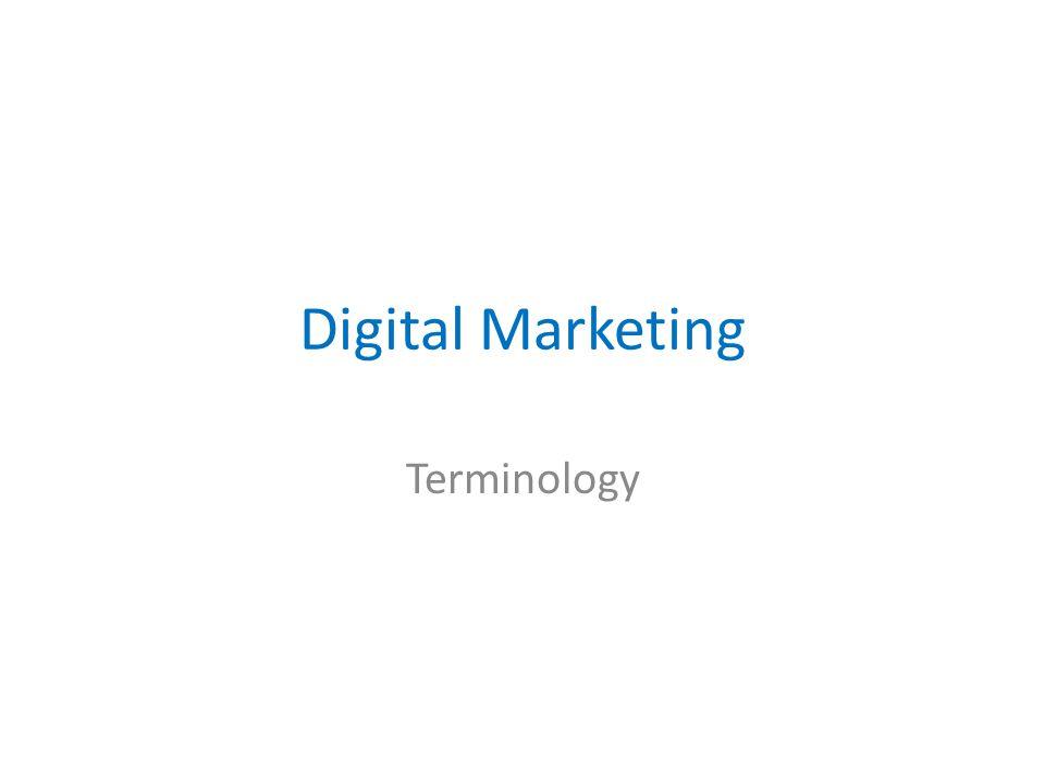 Digital Marketing Terminology