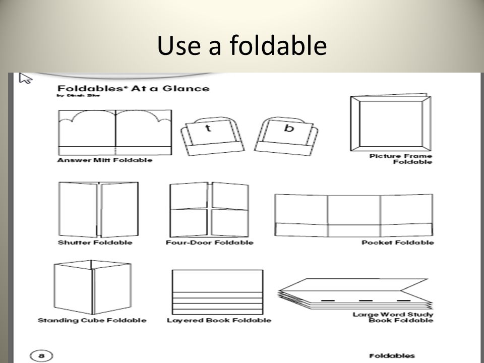 Use a foldable