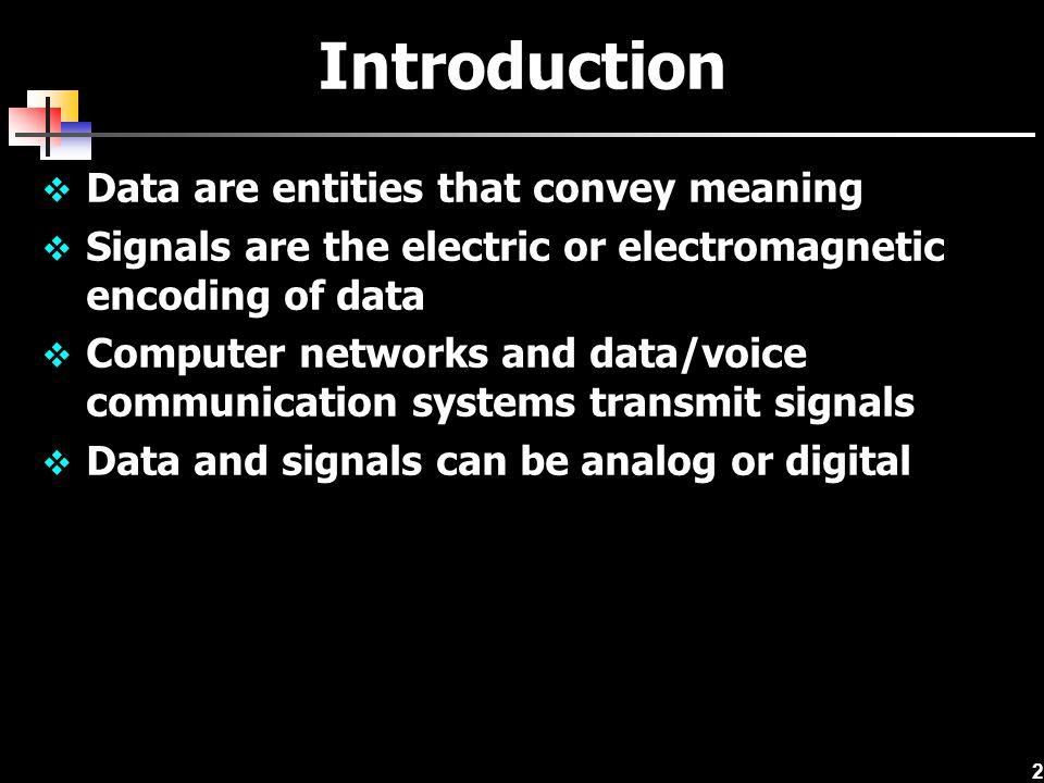 13 Data to Signal Digital Analog Signal Data NRZ-L NRZ-I Manchester Differential Manchester Bipolar-AMI Amplitude modulation Frequency modulation Phase modulation Pulse code modulation Delta modulation Modulate data onto different frequencies Spread spectrum technology