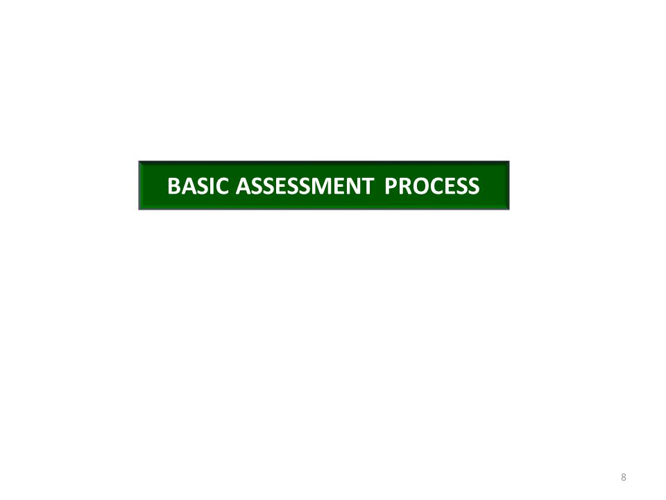 BASIC ASSESSMENT PROCESS 8